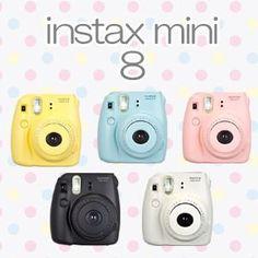 Fujifilm Instax Mini 8 Camera. Love all 5 of them ♡♡♡