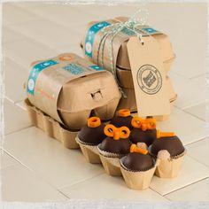 A dozen bitesize dark chocolate cakeball bearings with a moist truffle-sponge centre. interesting...^^