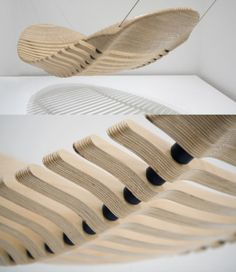 The 'Wooden Hammock' by Melbourne design legend Adam Cornish, 2011 Winner of the Herman Miller Asia Pacific Yves Behar Design Competition.    Designed as an alternative to the common cloth hammock this unique sculptural form is anything but common. Flexible, comfortable and mimicking the human spine the Wooden Hammock is a premium design product where each detail has been carefully considered.    Price: $3500  Available from: Adam Cornish Design  http://www.designermelbourne.com.au/