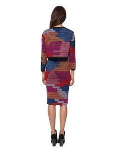 Mara Hoffman Radial Knit Pencil Skirt in Raspberry