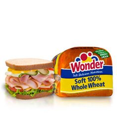 Wonder® Soft 100% Whole Wheat bread- When you and your family eat Wonder Soft 100% Whole Wheat bread you'll find the benefits of 100% whole wheat and the softness you've come to expect from Wonder!