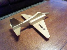 Hand Crafted Wooden Airplane by DalesAirplanes on Etsy, $75.00