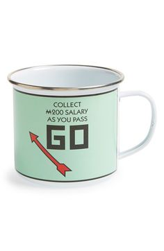 GIFT REPUBLIC 'Monopoly® - Pass Go' Porcelain Mug available at #Nordstrom