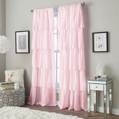 I love these #shabbychic curtains for a kid's room! #affiliate