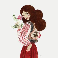 Diy Bag Painting, Sea Illustration, Pop Art Wallpaper, Ukrainian Art, Cross Stitch Art, Cartoon Art, Cute Drawings, Folk Art, Images