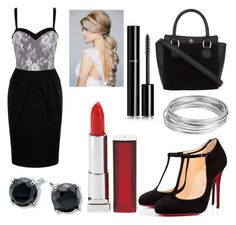 """""""#188"""" by glitterunicorns-are-awesome ❤ liked on Polyvore featuring Christian Louboutin, Paper Dolls, Maybelline, Worthington and Chanel"""