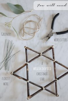 A Wreath Inspired Christmas Star by Holly Marder for Avenue Lifestyle