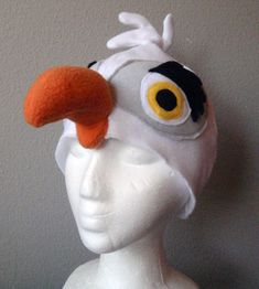 Seagull Hat. Scuttle inspired Little Mermaid. by lilecreations
