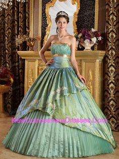 86f1d56ca6c Buy olive green strapless taffeta appliques celebrity quinceanera dresses  from olive green quinceanera dresses collection