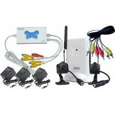 camaras espía inalámbricas con audio, recibidor y DVR