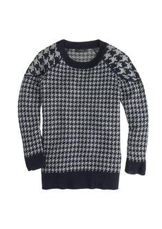 Merino Tippi sweater in houndstooth