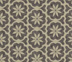 burlap_dutch_flower fabric by holli_zollinger on Spoonflower - custom fabric