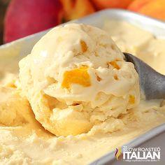 No-Churn Peaches & Cream Ice Cream