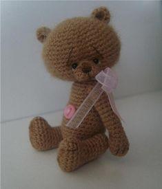 Miniature Crochet Thread Artist Trixee Teddy Bear Pattern by Stefanie Devlin