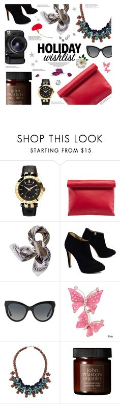 """867-Flat lays"" by cly88 ❤ liked on Polyvore featuring Versace, Tory Burch, Giuseppe Zanotti, Dolce&Gabbana, Ek Thongprasert, John Masters Organics, Eos, Tiffany & Co. and acessories"