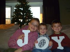 My grandsons!!!  They are a JOY!! ~ love this idea for Christmas cards.
