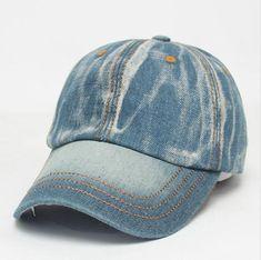 fae04f8fc33 2016 Retro Jeans Baseball Cap Men Women Snapback Hat Brand Golf Hat  Adjustable Visor Bone Denim Blank Gorras Casquette Plain Hat