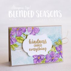 Blended Seasons stamp set and coordinating dies - Teneale Williams Monthly Themes, Stampin Up Catalog, Season Colors, Paper Crafts, Card Crafts, Flower Cards, Scrapbook, Stampin Up Cards, Cardmaking