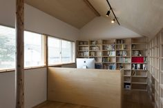 本の部屋 : 모던스타일 서재 / 사무실 by FURUKAWA DESIGN OFFICE
