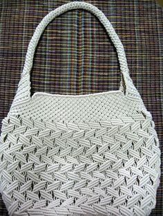 Beautiful Cream Macrame Bag
