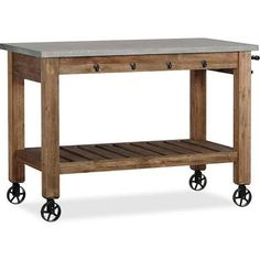 Counter height butcher block table - Google Search
