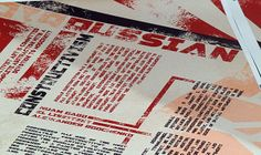 Russian Constructivism by Jesse Phillips, via Behance