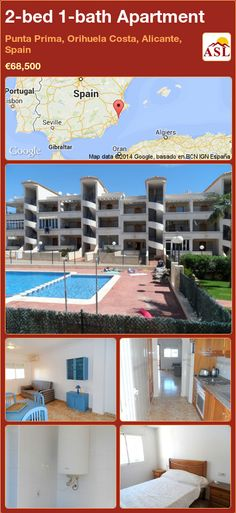 2-bed 1-bath Apartment in Punta Prima, Orihuela Costa, Alicante, Spain ►€68,500 #PropertyForSaleInSpain