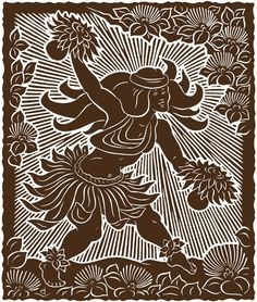 ~ Dietrich Varez ~ woodblock art ~
