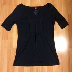 Vintage ESPRIT navy blue size Xlg Empire waist top EUC vintage ESPRIT top size Xlg but fits more like a Large 100% cotton and is a navy blue. No rips, stains or holes. Has 3/4 sleeves and empire waist. Super cute top ESPRIT Tops