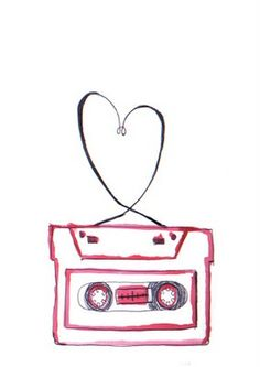 'Valentines Tape' greetings card desing by Vicky Webb of Whirlygig Collective
