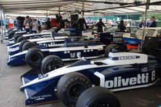 Several Brabham F1 cars at the 2016 Goodwood Festival of Speed: BT56, BT55, BT54, BT53...