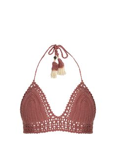 Click here to buy She Made Me Essential Bralette crochet bikini top at MATCHESFASHION.COM