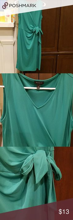 """Talbots teal dress - EUC Perfect for the work place! This dress is 39"""", ties at waist and really flattering! Talbots Dresses Midi"""