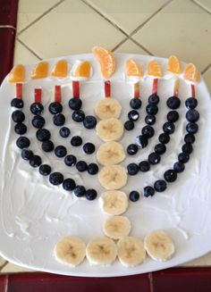 2. Edible menorah.