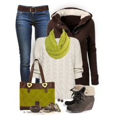 Wedge Boots, created by tufootballmom on Polyvore