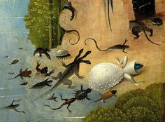 The Garden of Earthly Delights, detail from the left panel, Hieronymus Bosch