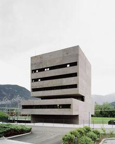 Bechter Zaffignani Architekten / neubau kwb-leitstelle . tiwag