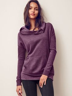 Just in time for fall: the comfiest, coolest hoodie. | Victoria's Secret Oversized Fleece Tunic