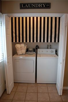 Curtains To Hide Washer And Dryer For The Home Pinterest Washer Laundry Rooms And Laundry