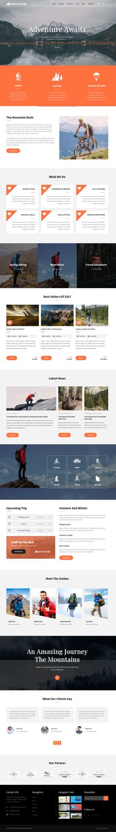 Adventure WordPress theme is best to fit for travels and adventure sports