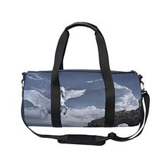 MUOOUM Fantasy Horse Lucky Unicorn In Wonderland Sports Gym Bag Travel Duffel Bag for Women and Men Luggage Handbag >>> You can get more details by clicking on the image. (This is an affiliate link) Yoga Strap, Types Of Yoga, Duffel Bag, Travel Bags, Gym Bag, Wonderland, Unicorn, Horses, Fantasy