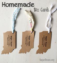 Map envelopes 25 mini envelopes business card size thank you homemade biz cards diy reheart Choice Image