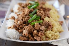 Korean Beef and Rice {Or Quinoa}: Simple 20-Minute Meal