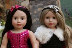 18 inch Dolls from Harmony Club Dolls http://www.harmonyclubdolls.com, Melody Rose and Cadence Rose. Best Friends.
