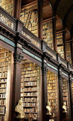 The library at Trinity university in Dublin