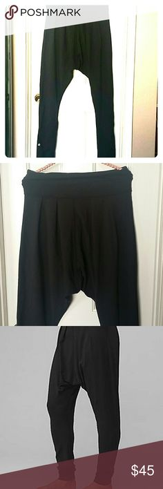Lululemon harem pants Full length, like new, large waistband,  pleated details around waist,  just low hanging not full full harem open to the knee as you can see from the picture lululemon athletica Pants