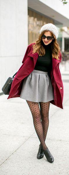 Sheer tight, skirt and coat