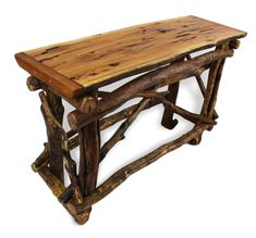 Reclaimed Wood Sofa Table Rustic Wood Table by WoodzyShop on Etsy