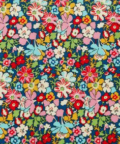 Red Lytton Cotton Craft Fabric at @LibertyLondon, 100% Cotton, £14.00.    An archive print created for Liberty in 1933, chosen and re-worked to represent a design of sketchy flowers and leaves dominated by outlines on a hand painted screen by Duncan Grant.