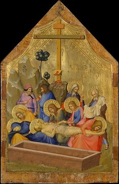 The Lamentation -- Circa -- Master of the Codex of Saint George -- Likely made in Avignon, France -- Tempera & gold leaf on wood panel -- The Metropolitan Museum of Art Italian Paintings, European Paintings, Renaissance Paintings, Renaissance Art, Religion Catolica, Saint George, Medieval Art, Metropolitan Museum, Art Club